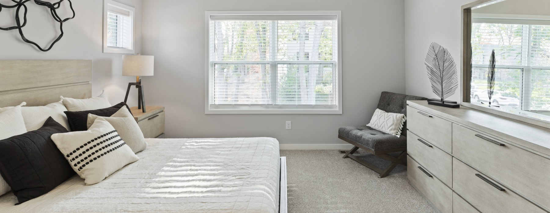 Well Lit Spacious Bedrooms With Plush Carpet At Beacon Ridge Single Family Rentals In Plymouth, MN