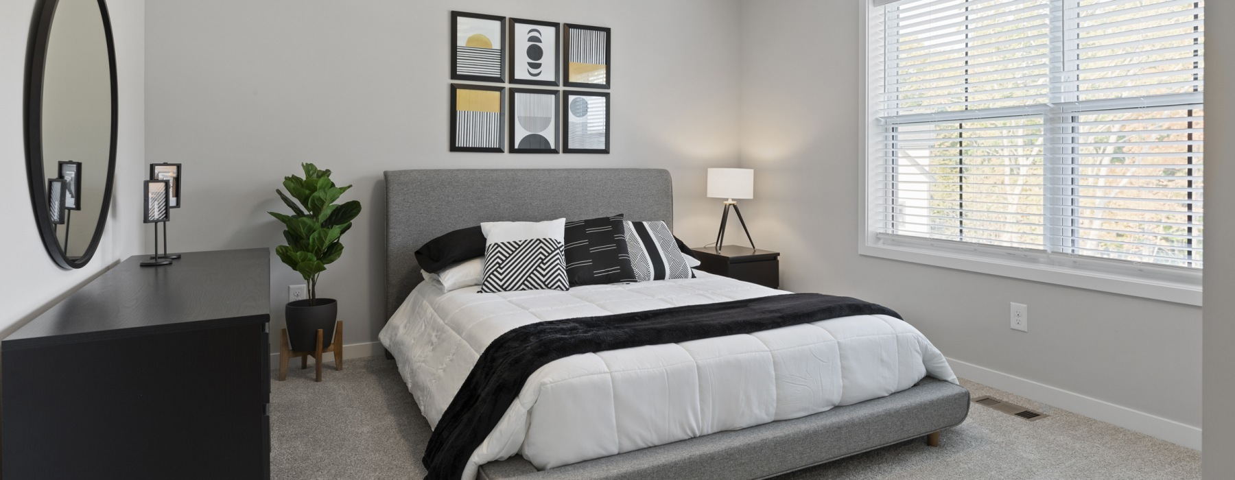 Well Lit Bedrooms With Plush Carpet At Beacon Ridge Single Family Rentals In Plymouth, MN