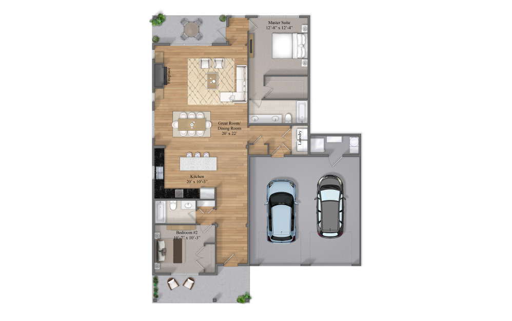 Harper Level 1 Layout At Beacon Ridge Single Family Rentals In Plymouth, MN