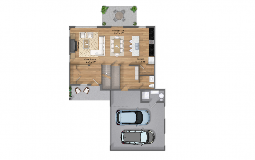 Winfield Level 1 Floorplan Layout At Beacon Ridge Single Family Rentals In Plymouth, MN
