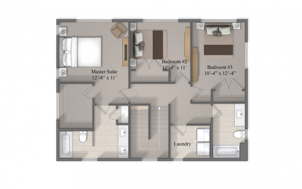Winfield Level 2 Layout At Beacon Ridge Single Family Rentals In Plymouth, MN